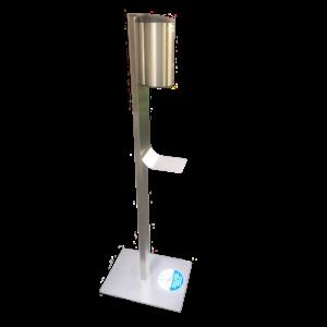gelSafe ontsmettingszuil in inox met automatische dispenser