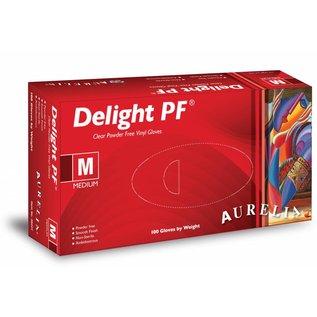 Aurelia Delight Clear PF vinyl poedervrije onderzoekshandschoen