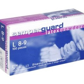 Semperguard LANGE LEVERTIJD! Semperguard Latex Gepoederde Handschoen (10 x 100st)