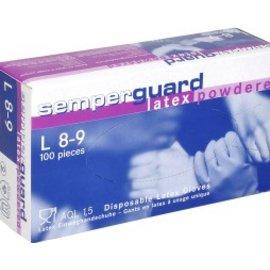 Semperguard Semperguard Latex Gepoederde Handschoen (10 x 100st) INFORMEER VOOR BESCHIKBAARHEID!