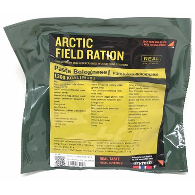Real Field Meal Arctic Field Ration Pasta Bolognese