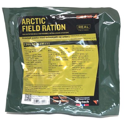 Real Field Meal Arctic Field Ration Creamy Pasta with Pork