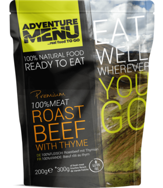 Adventure Menu 100% MEAT Roast Beef with thyme