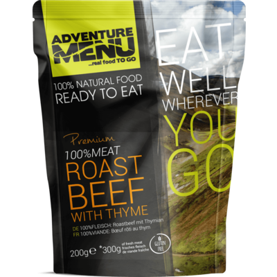 Adventure Menu 100% MEAT Roast Beef with thyme