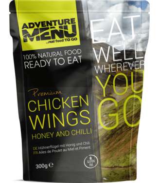 Adventure Menu Chicken wings on honey and chilli
