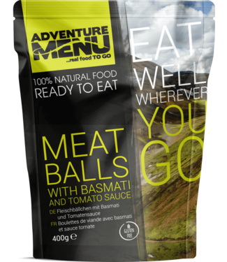 Adventure Menu Meatballs with basmati and tomato sauce