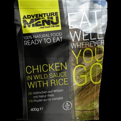 Adventure Menu Chicken in wild sauce and rice