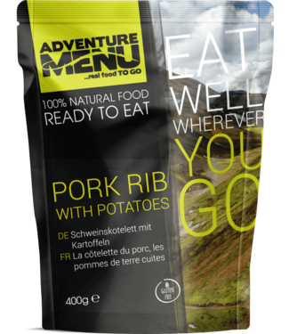 Adventure Menu Pork rib with boiled potatoes