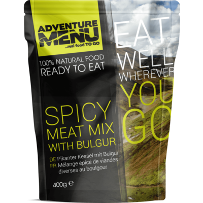 Adventure Menu Spicy meat mix with bulgur