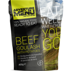 Adventure Menu Beef goulash with boiled potatoes