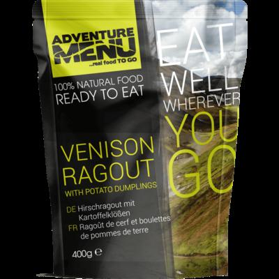 Adventure Menu Venison ragout with dumplings