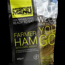 Adventure Menu Farmer ham with lentil ragout