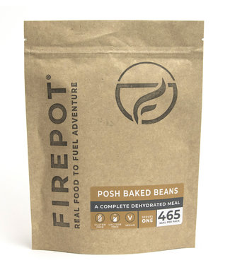 Firepot Posh Baked Beans Compostable package
