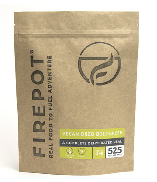 Firepot Vegan Orzo Bolognese Compostable package