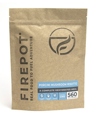 Firepot Porcini Mushroom Risotto Compostable package
