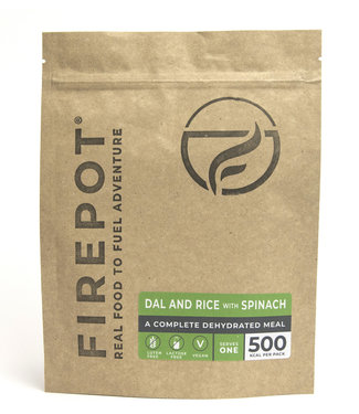 Firepot Dal and Rice Spinach Compostable package