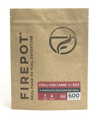 Firepot Chili Con Carne Compostable package