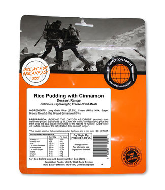 Expedition Foods Rice Pudding with Cinnamon