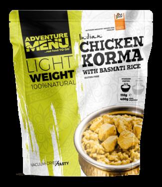 Adventure Menu Chicken Korma with basmati