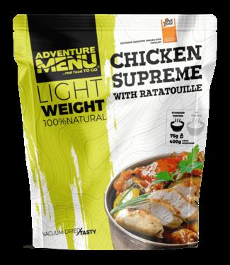 Adventure Menu Chicken supreme with ratatouille