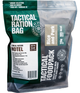 Tactical Foodpack 3 Meal Ration Hotel
