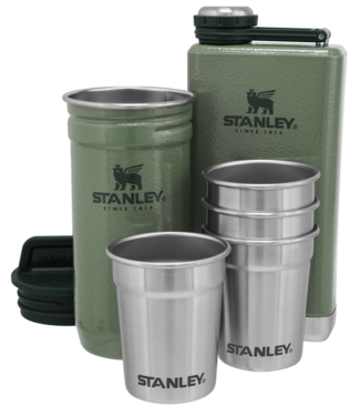 Stanley The Pre-Party Shotglass + Flask Set Hammertone Green