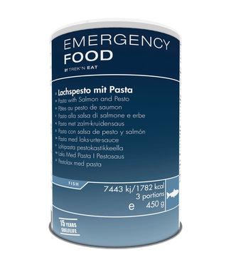 Emergency Food Salmon Pesto with Pasta