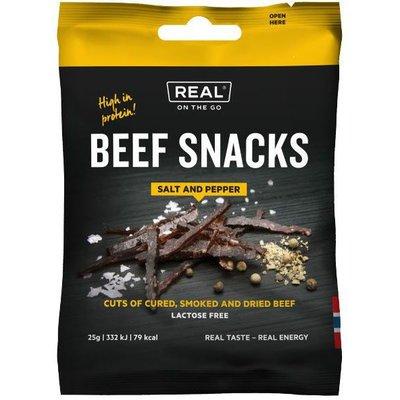 Real Turmat Beef Snacks Salt and Pepper