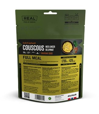 Real Field Meal Couscous with Lentis and Spinach