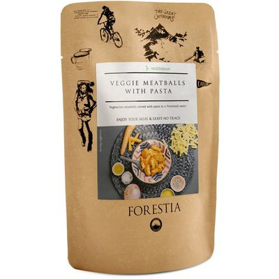 Forestia Veggie Meatballs with pasta