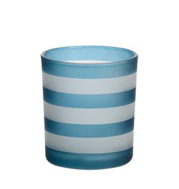 Yankee Candle - Coastal Stripe Dark Blue Votive Holder