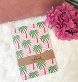 PINK PALM TREE NOTEBOOK