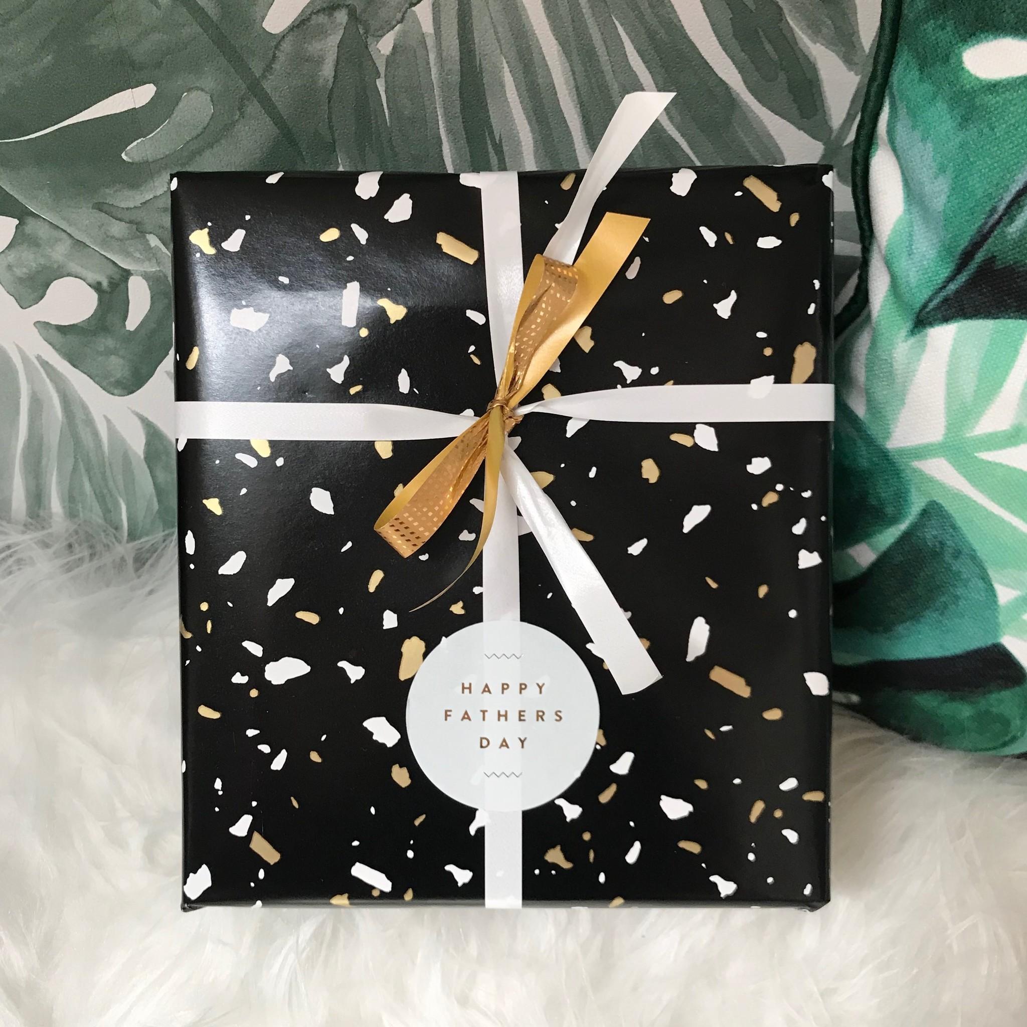 Cadeaupapier Vaderdag - Zwart