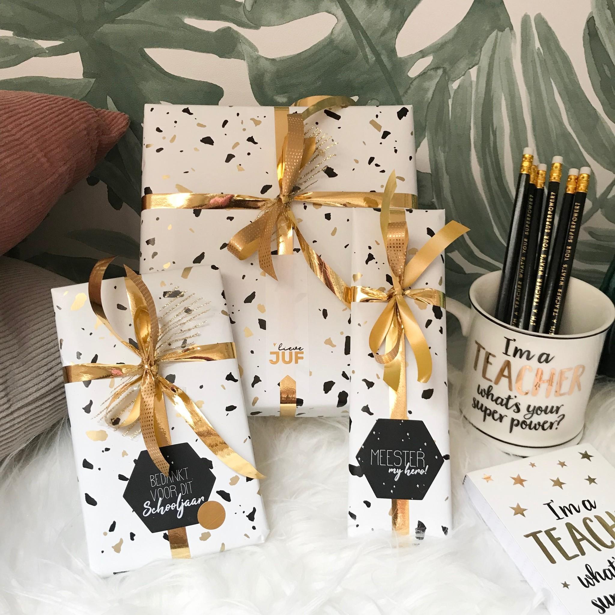 Cadeaupapier - Lieve Juf