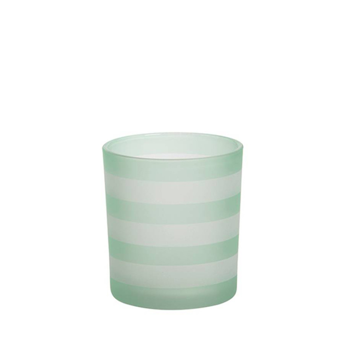 Yankee Candle - Coastal Stripe Green Votive Holder
