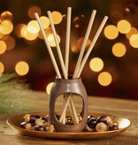 Yankee Candle - Pre-Fragranced Reed Diffuser Starter Kit: Metallic Vessel (Cherry Blossom)