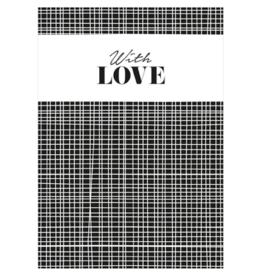 WITH LOVE - ANSICHTKAART