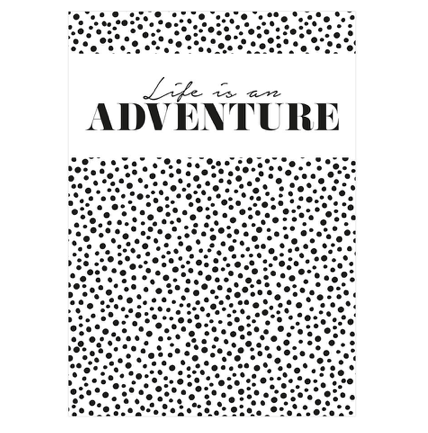 LIFE IS AN ADVENTURE - ANSICHTKAART