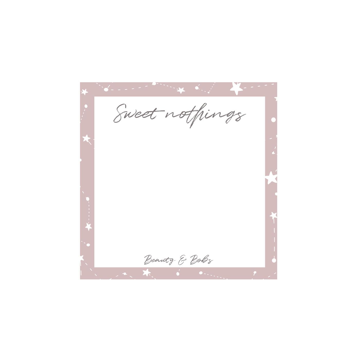 SWEET NOTHINGS - NOTEBLOCK (10x10CM)