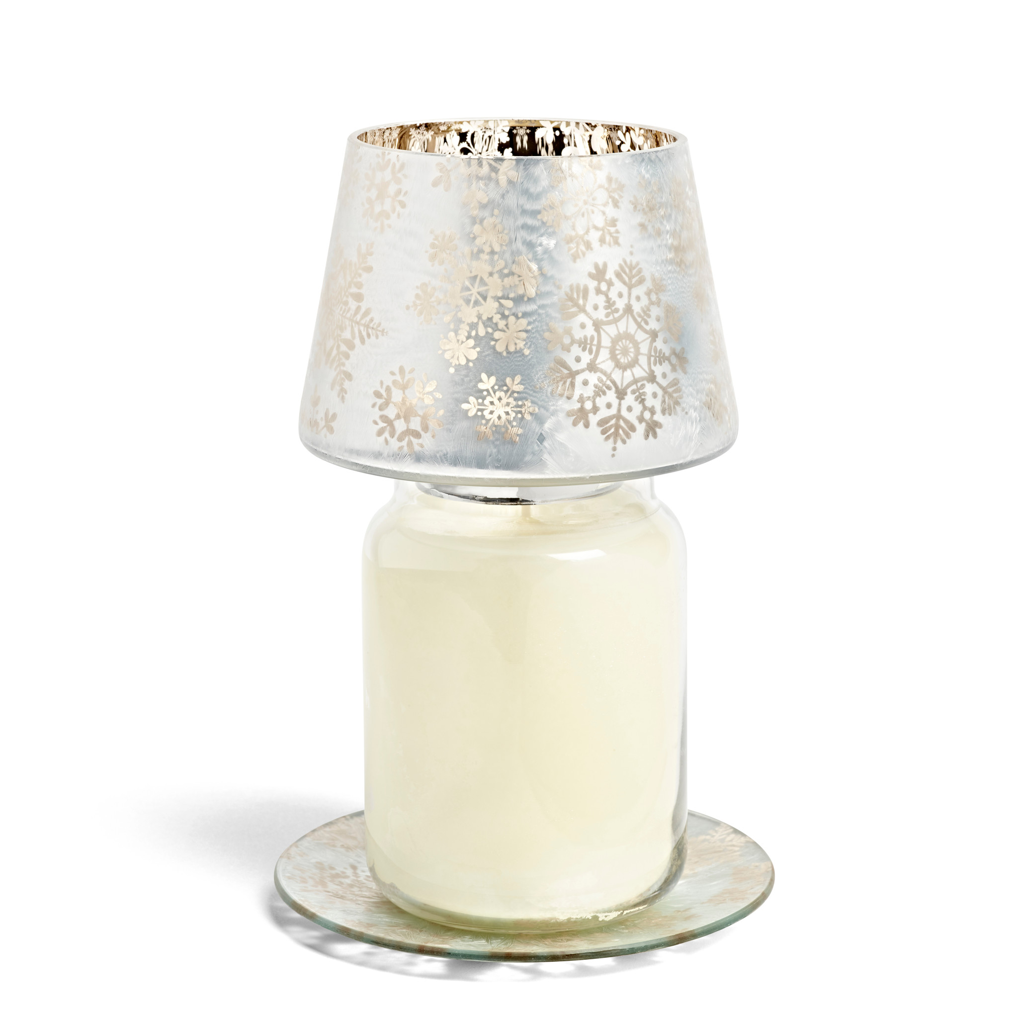 Yankee Candle - Snowflake Frost Large Shade & Tray
