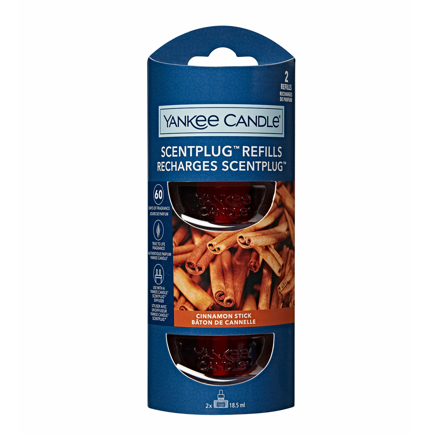 Yankee Candle - Cinnamon Stick 2-Pack Scentplug Refill