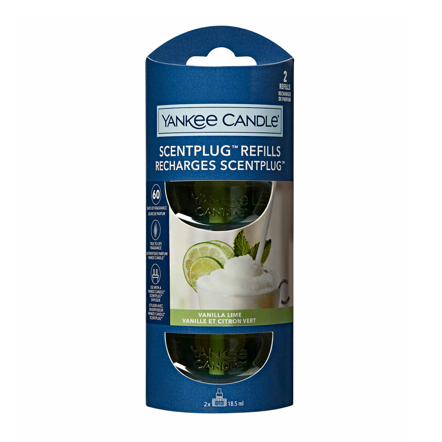 Yankee Candle - Vanilla Lime 2-Pack Scentplug Refill