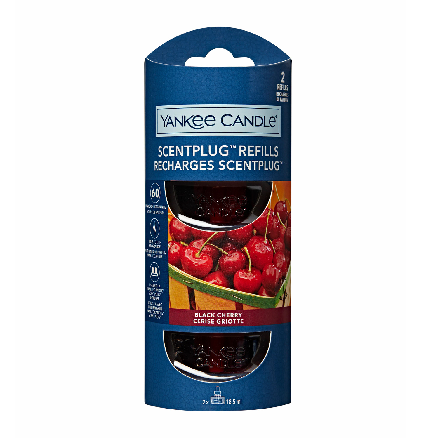Yankee Candle - Black Cherry 2-Pack Scentplug Refill