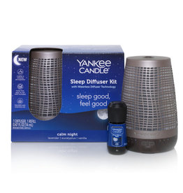 Yankee Candle - Bronze Sleep Diffuser +  Calm Night Refill