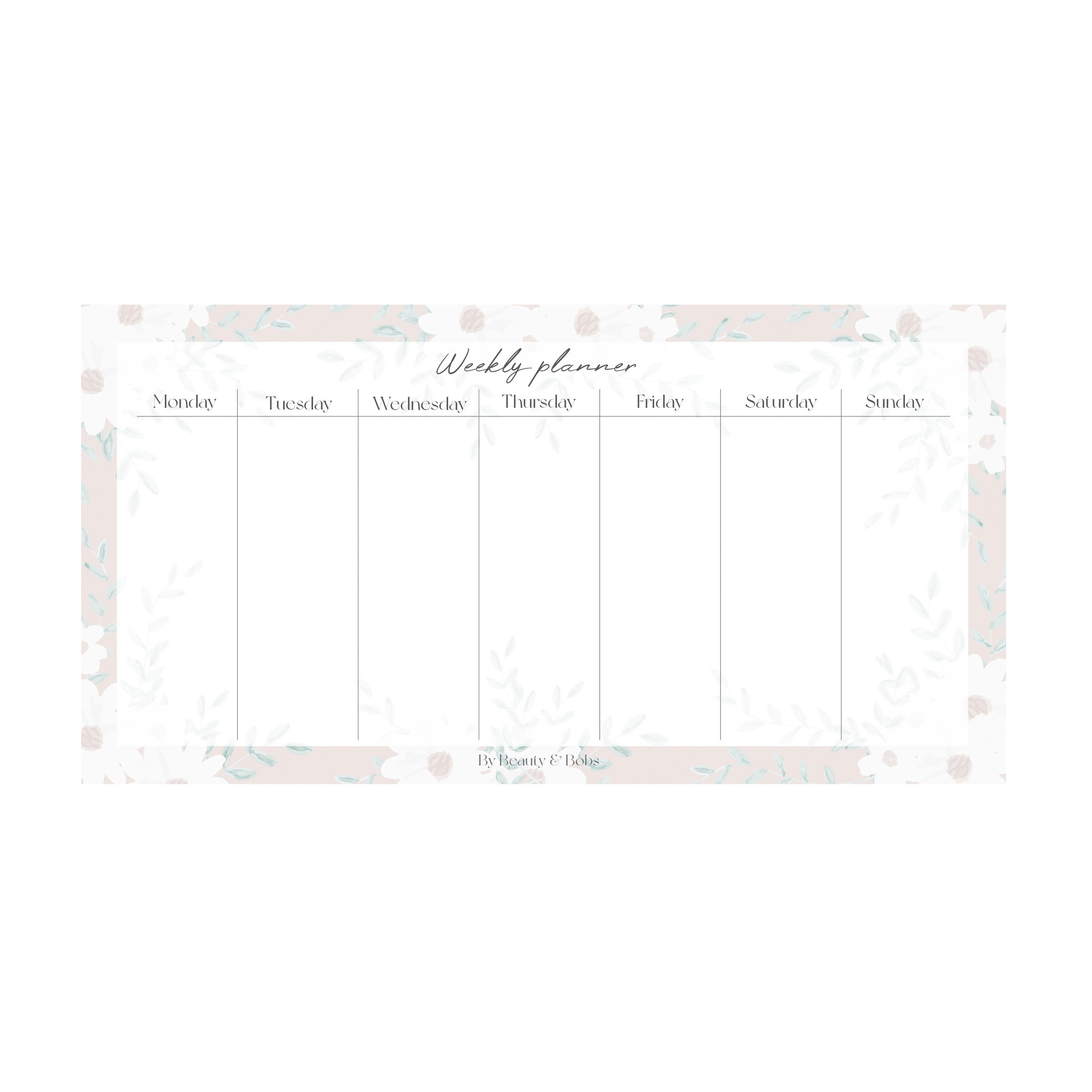SMALL WEEKLY PLANNER (21x10,5cm)