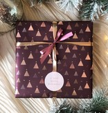 Kerst Cadeaupapier - Purple Christmas Trees (Opgelet, door drukte neemt inpakken een dag langer in beslag.)