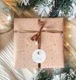 Kerst Cadeaupapier - Moon & Stars (Opgelet, door drukte neemt inpakken een dag langer in beslag.)