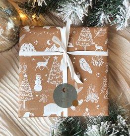 Kerst Cadeaupapier 2021 - Cognac Winter Wonderland (Opgelet, door drukte neemt inpakken een dag langer in beslag.)