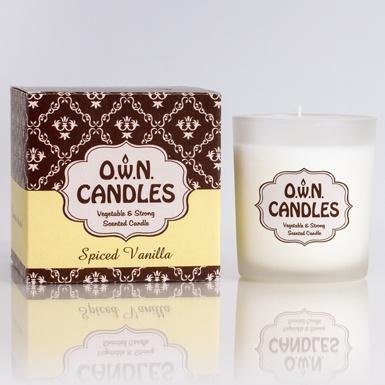 O.W.N Candles Glass Jar Candle - Spiced Vanilla