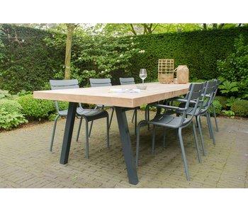 """""""Arendal Garten"""" Bauholz Tisch/ schrägen Tischbeinen aus Stahl"""